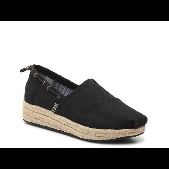 Skechers Shoes   Black Platform Bobs